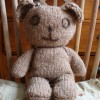 Natural Organic Soft Toy Teddy - Brownie the bear