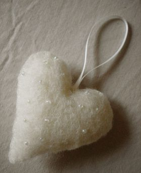 Organic Felt Heart Decoration