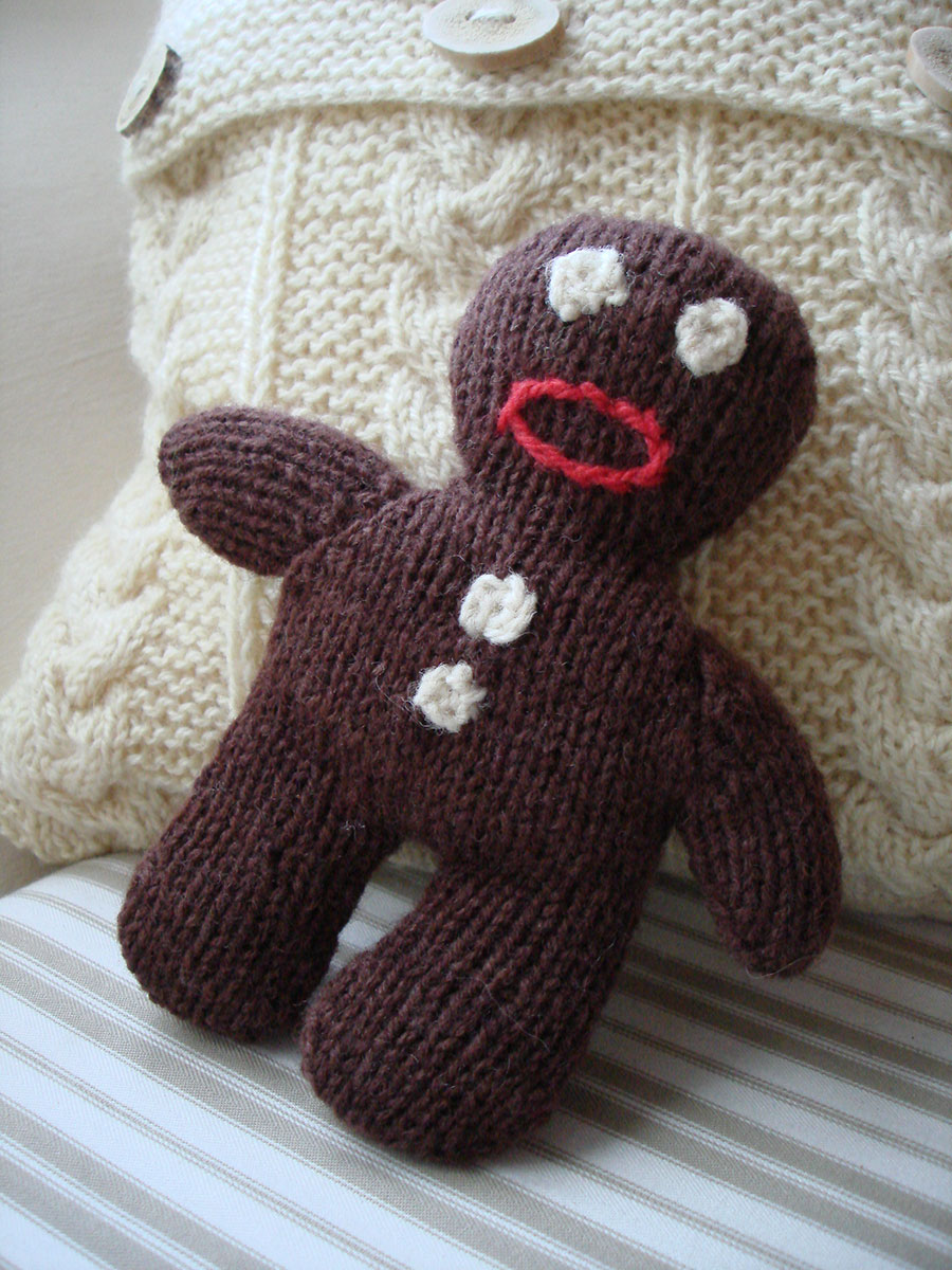 Organic Wool Gingerbread Man Soft Toy Natural Simplicity