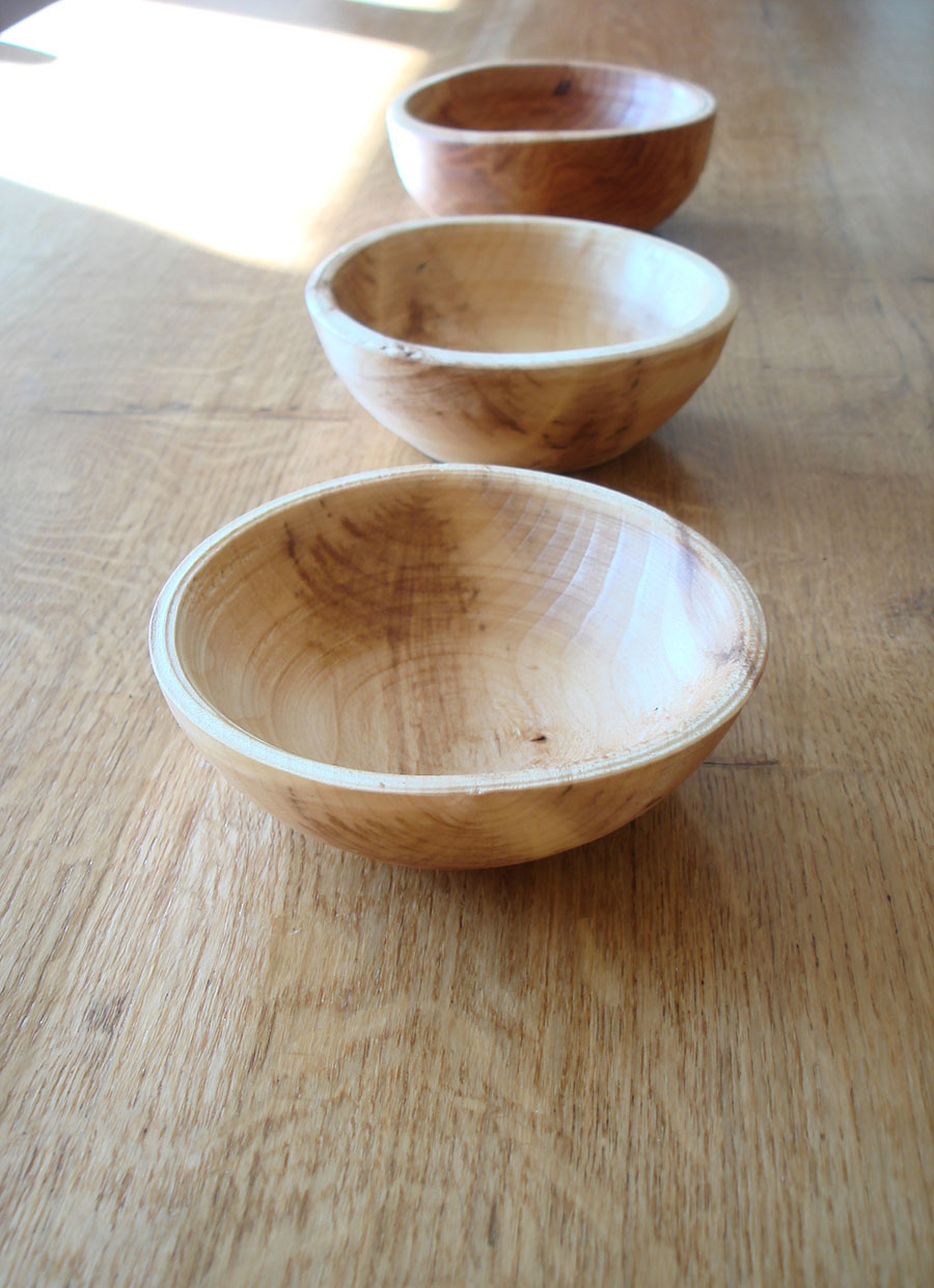 Mini Pole Lathe Turned Tapas Bowl Natural Simplicity