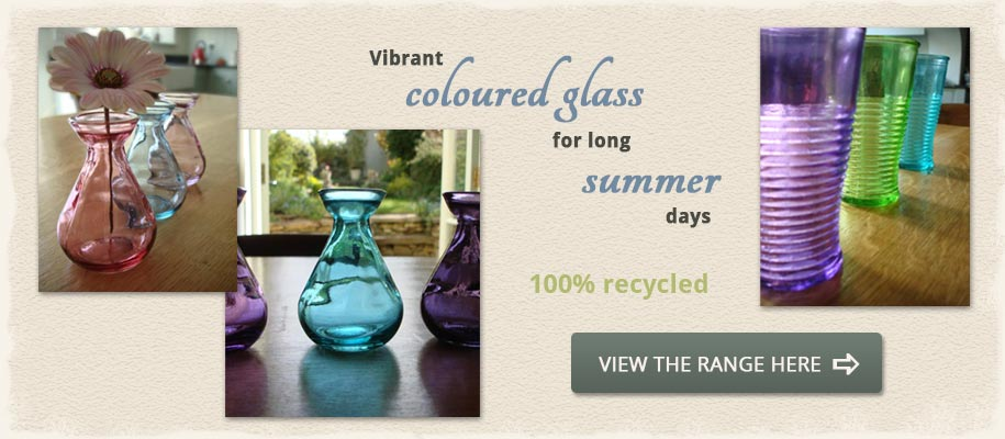 Recycled Colour Glass at Natural Simplicity