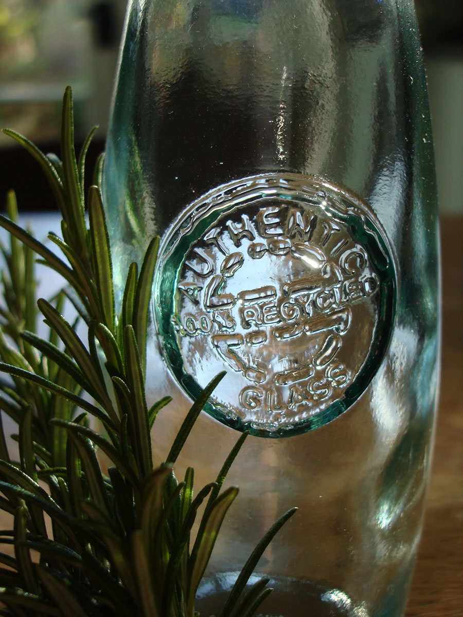 Recycled glass Authentic Oil Bottle - Natural Simplicity