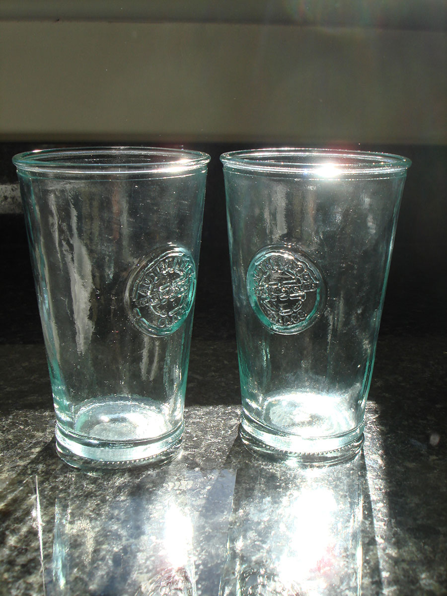recycled authentic tumbler glasses - set of 6