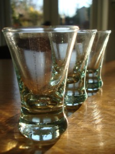 Recycled Glass Shot Glasses
