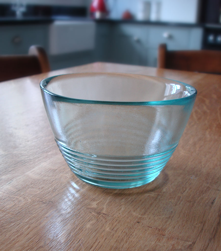 Recycled Glass Bowl Small 15cm Natural Simplicity