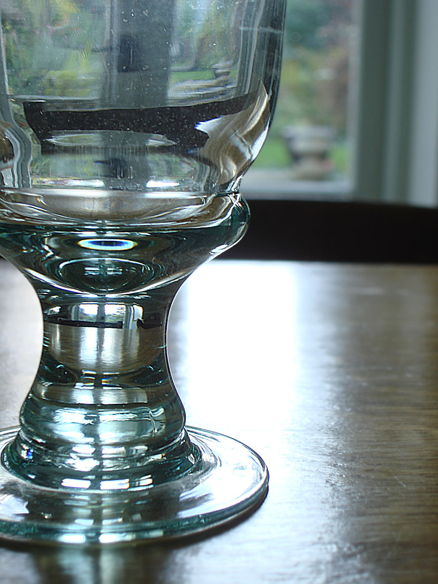 Recycled Goblet Wine Glasses Set Of 6 Natural Simplicity