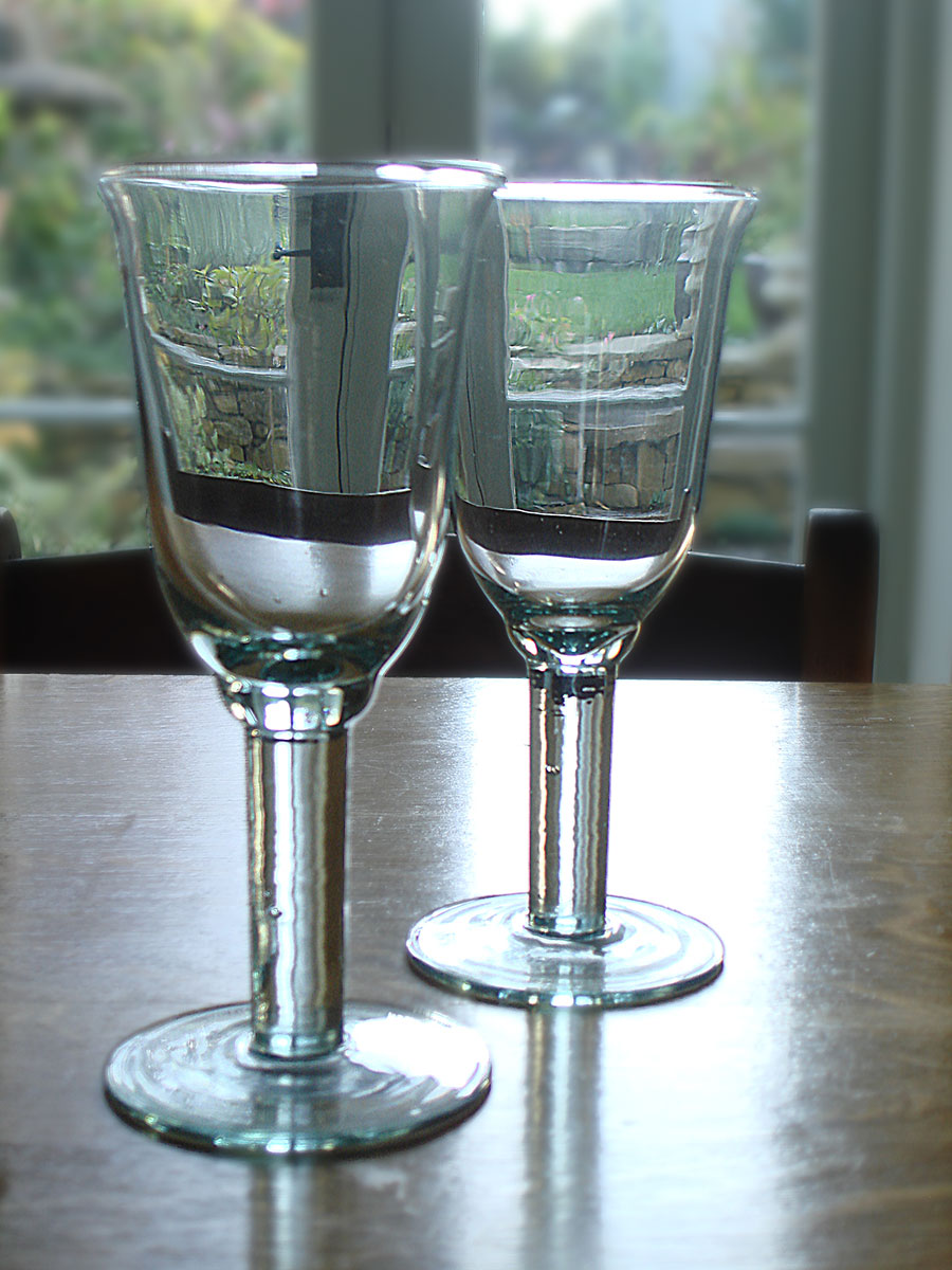 recycled tulip wine glass - set of 6