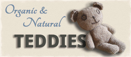 Natural Teddy Bear - Organic Soft Toys